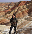 Colourful hills in Gansu