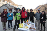 At the end of the hike - Longquanyu Hike, 2014/01/27