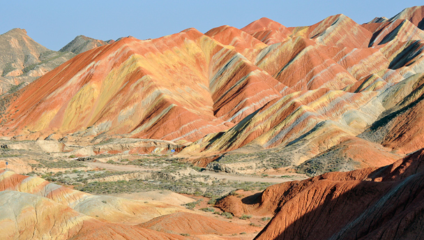 The coloured hills of the Zhangye Danxia Landformt