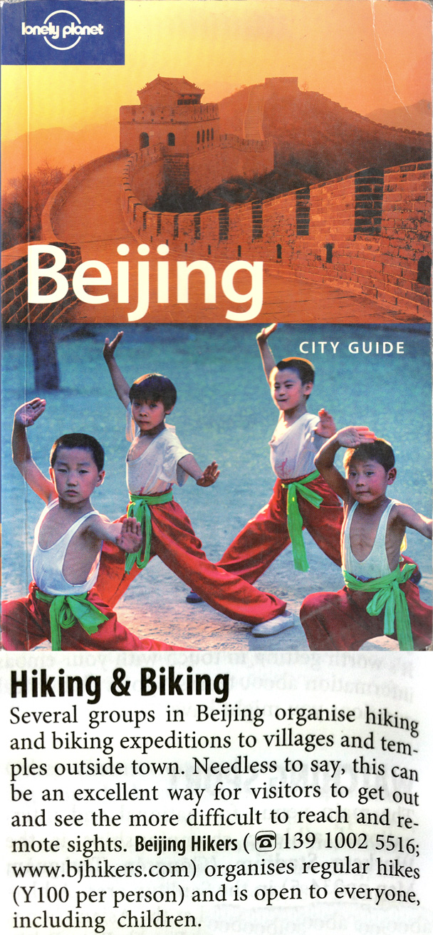 Beijing Hikers in Lonely Planet 2005