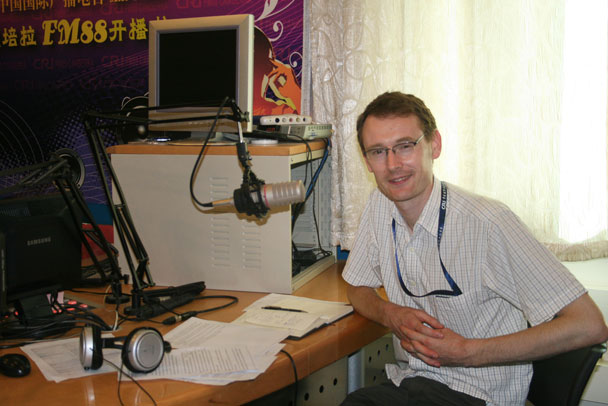 Dominic from CRI - Huijie interviewed on China Radio International