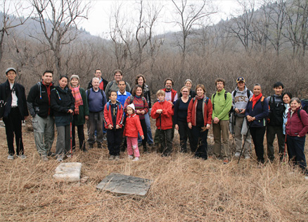 Hiking group, Beijing Hikers 10000 Buddhas hike, 2009-11-08