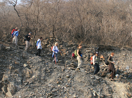 Gravel path, Beijing Hikers Ancient Horse Hoofprints hike, 2009-11-07
