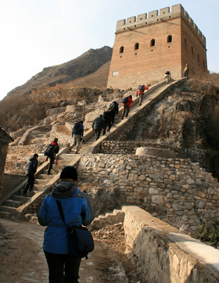 Great Wall tower, Beijing Hikers Ming Dynasty River City trip, 2009-11-22