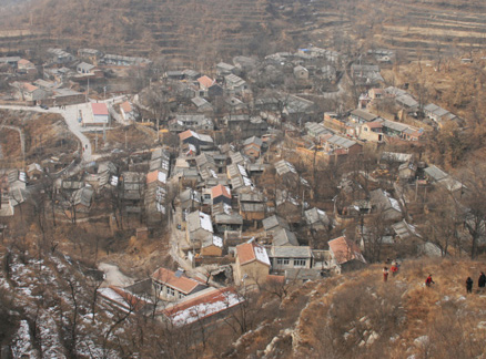Village viewed from above, Beijing Hikers Ingot Village and Tanzhe Temple hike, 2009-11-29