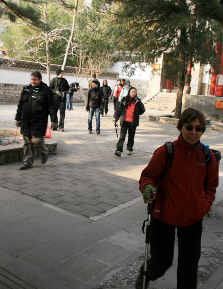 Temple courtyard, Beijing Hikers Ingot Village and Tanzhe Temple hike, 2009-11-29