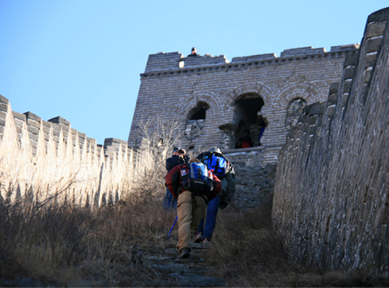 Generals Tower, Beijing Hikers Switchback Great Wall Middle Route hike, 2009-12-16