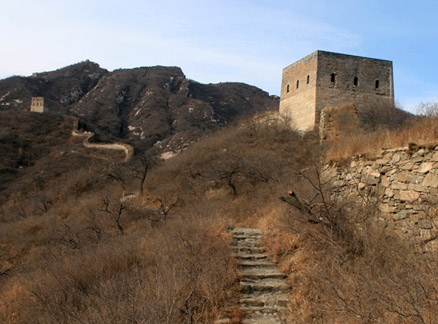 Great Wall towers, Beijing Hikers Round Tower Great Wall hike, 2009-12-27