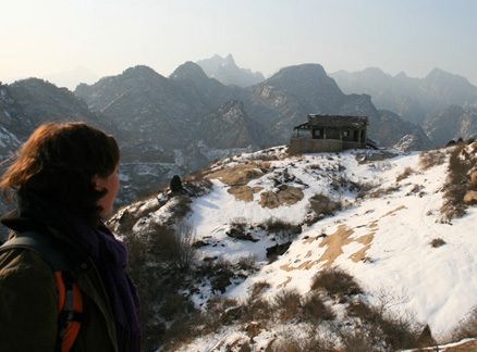 Shack on hill, Beijing Hikers Longyunshan and White River hike, 2010-01-16