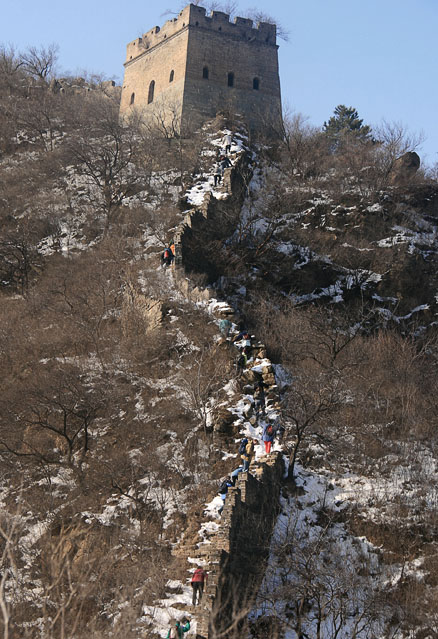 Great Wall tower, Beijing Hikers Lotus Pond to Mutianyu hike, 2010-01-24