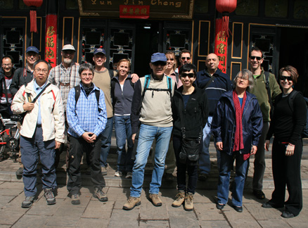 Group photo, Beijing Hikers Ancient Walled City of Pingyao trip, 2010/03/19-21