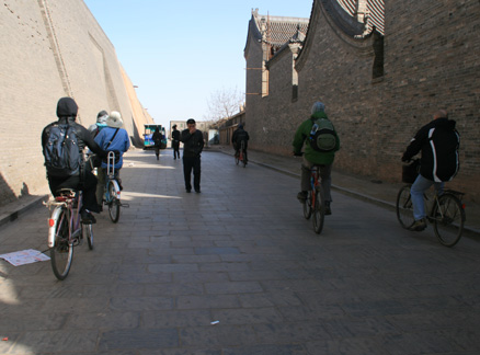 Biking the streets of Pingyao, Beijing Hikers Ancient Walled City of Pingyao trip, 2010/03/19-21