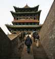 Pingyao stairs and temple