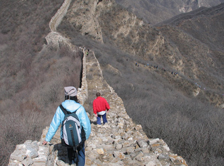 Descent, Beijing Hikers Zhenbiancheng Great Wall hike, 2010-04-04