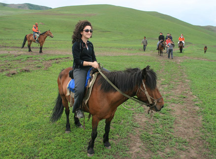 Horse riding, Beijing Hikers Bashang Grasslands Trip, June 18-20, 2010