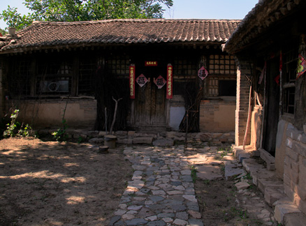 A view of a traditional courtyard in the village, Beijing Hikers Changyucheng day Trip, July09, 2011