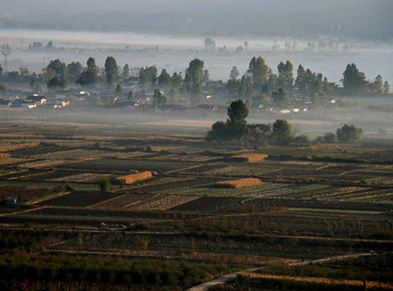 Fields, Beijing Hikers Yunnan scouting, November 2010