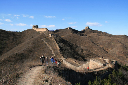 Gubeikou Great Wall, Beijing Hikers Gubeikou to Jinshanling hike, November 13, 2010