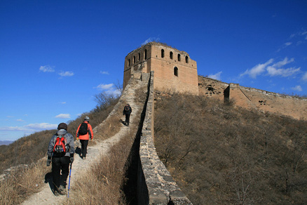 Gubeikou Great Wall tower, Beijing Hikers Gubeikou to Jinshanling hike, November 13, 2010