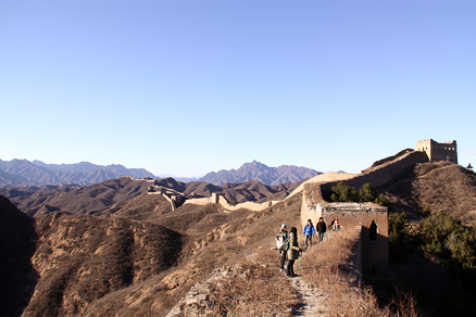 Jinshanling Great Wall, Beijing Hikers Gubeikou to Jinshanling hike, November 13, 2010