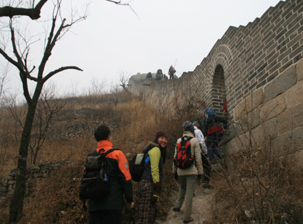 Archway in Great Wall, Beijing Hikers Huanghuacheng to the Walled Village hike, December 1, 2010