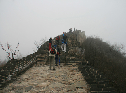 Stretch of Great Wall, Beijing Hikers Huanghuacheng to the Walled Village hike, December 1, 2010