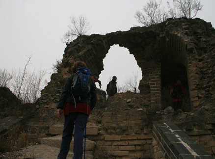 Great Wall Tower, Beijing Hikers Huanghuacheng to the Walled Village hike, December 1, 2010