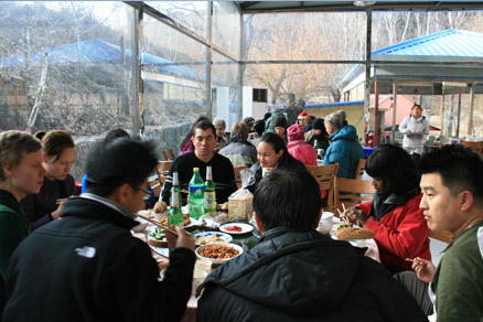 Christmas lunch, Beijing Hikers Jiankou to Mutianyu and Christmas BBQ hike, December 25, 2010