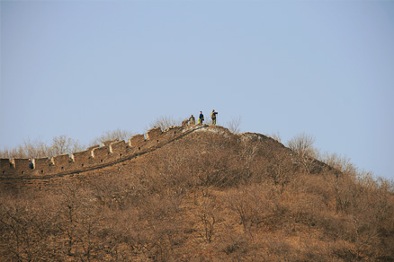 the top of a ridge, Beijing Hikers the Great Wall Spur hike, February 02, 2011
