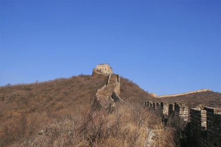 A hilltop tower, Beijing Hikers the Great Wall Spur hike, Febrary 02, 2011