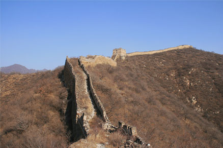 A path, Beijing Hikers the Great Wall Spur hike, Febrary 02, 2011