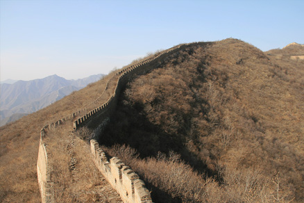The Great Wall winds, Beijing Hikers the Great Wall Spur hike, Febrary 02, 2011