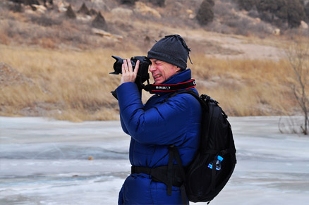 Photographer, Beijing Hikers White River Ice Hike, February 5, 2011