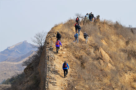 Seen from the ridge, Beijing Hikers Gubeikou Loop Hike, March 05, 2011