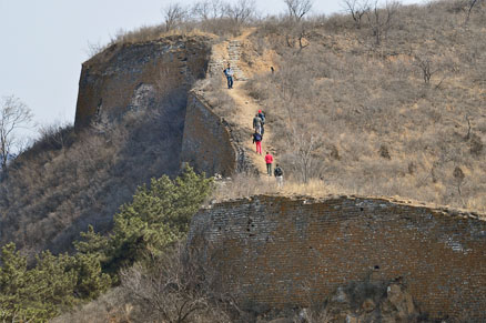 The Great Wall , Beijing Hikers Gubeikou Loop Hike, March 05, 2011