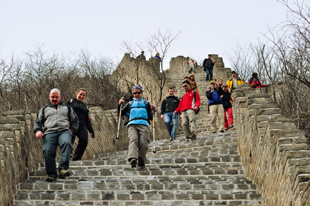The stairs, Beijing Hikers Longquanyu Loop and Great Wall, March 13, 2011