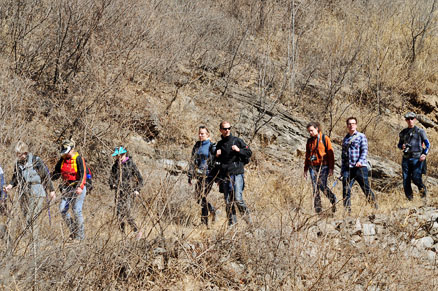 The group, Beijing Hikers Miyun District, March 16, 2011