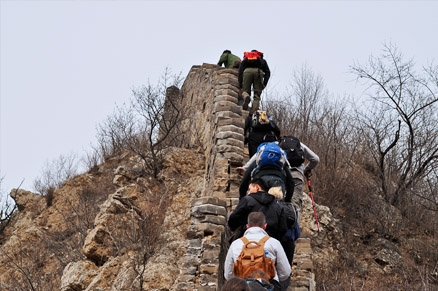 , Beijing Hikers Middle Route of the Switchback Great Wall hike, March 19, 2011