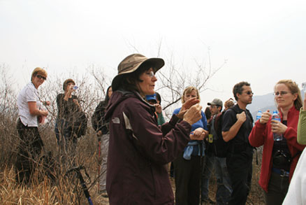Betsy Taylor, Beijing Hikers Mr. Mao's Chestnut Orchard, April 6, 2011