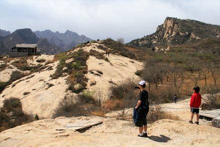 Hikes to this area , Beijing Hikers Montessori School day trip, April 17, 2011