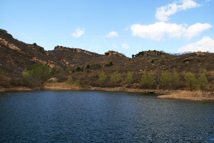 A view of the reservoir , Beijing Hikers Montessori School day trip, April 17, 2011