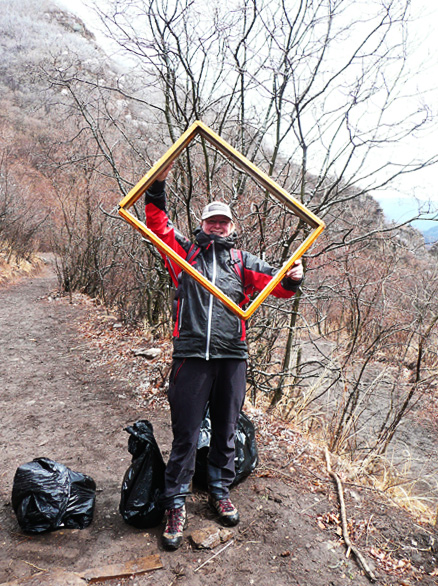 Some of the things that people chose to throw out here!, Beijing Hikers Clean-up Hike at Huangcaoliang, April 23, 2011