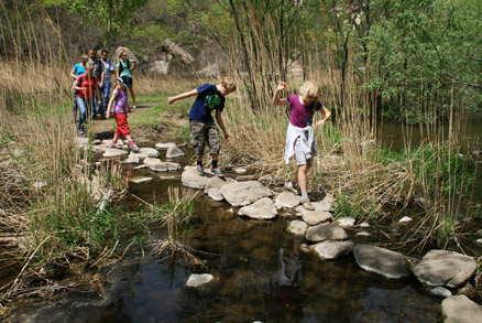 Several easy stream crossings, Beijing Hikers 20110302-Intelligence Valley hike, May 01, 2011