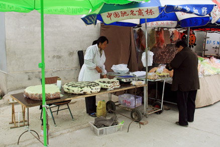 Several types of rice cakes, Beijing Hikers 20110302-Yajishan Temple Fair, May 04, 2011