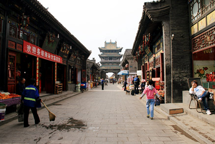 The ancient architectural style of Pingyao's streets, Beijing Hikers Pingyao, May 20- 22 , 2011