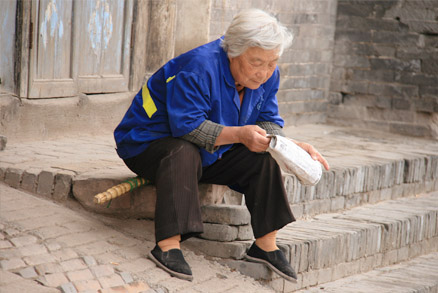 An elderly local woman, Beijing Hikers Pingyao, May 20- 22 , 2011
