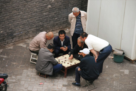Playing traditional games, Beijing Hikers Pingyao, May 20- 22 , 2011