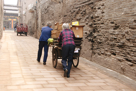 Old fashioned means of transport, Beijing Hikers Pingyao, May 20- 22 , 2011