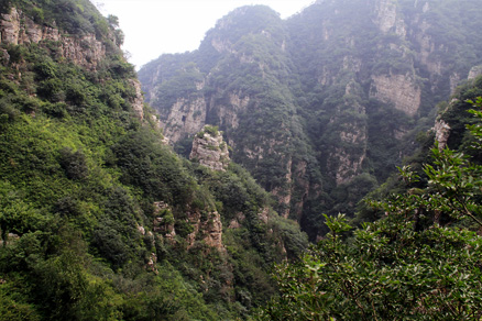 Nice view of the mountains, Beijing Hikers Gypress Wells Canyon, August06, 2011