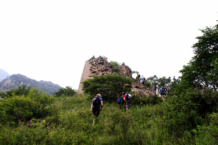 the broken tower, Beijing Hikers Gypress Wells Canyon, August06, 2011